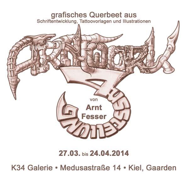 Arnt Fesser - Illustrationen, Tattoovorlagen, Schriftentwicklung