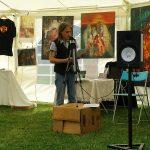 Lesung Seegert, Stand von Radio Gaarden, Bilder von Gela Schmidt