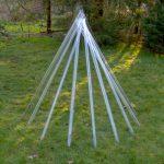 Lichtkegel,Glasröhrenjeweils 150cm lang, 2007