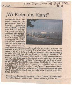 Kieler Express 12.09.2009 - Wir Kieler sind Kunst